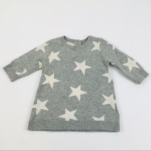 Gap Baby Star Print Sweater Dress 0-3 Mont…